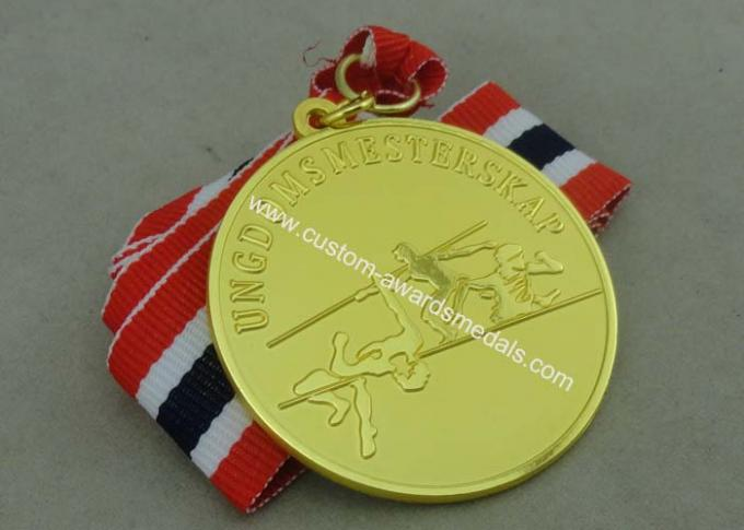 Copper Die Stamped Sport Meeting Awards Medals , Carnival Medals For Promotion