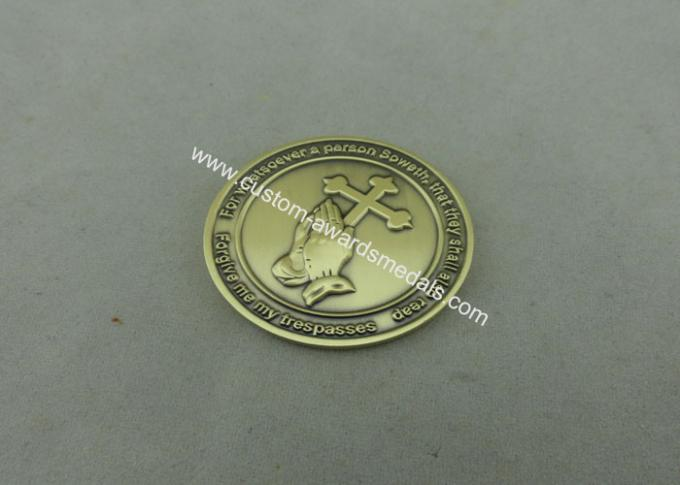 Die Stamped Religion Personalized Coins , Customized Brass Charity Souvenir Coin