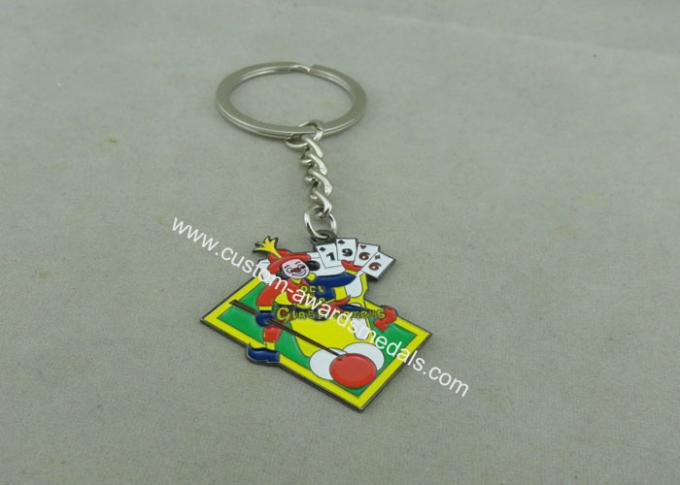 Custom Soft Enamel Souvenir Keychains Mitation Rhodium Plating Lead & Nickel Free