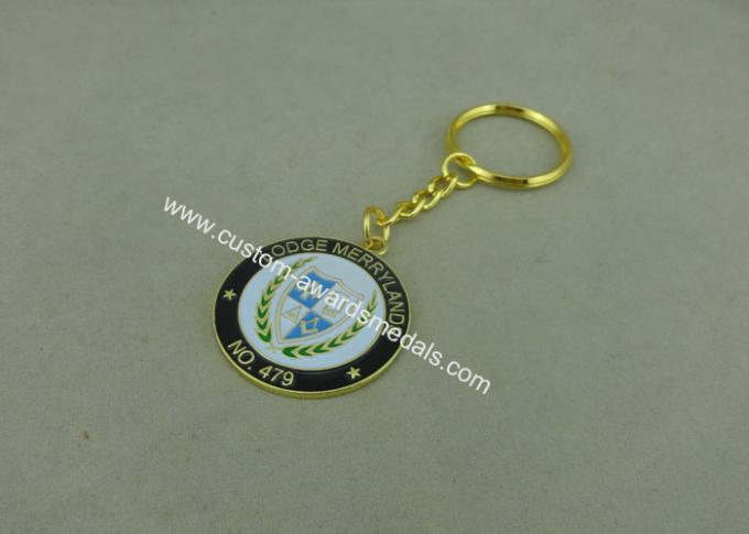 Mini Promotional Keychain for School , Customized Antique Silver Baseball Key Rings