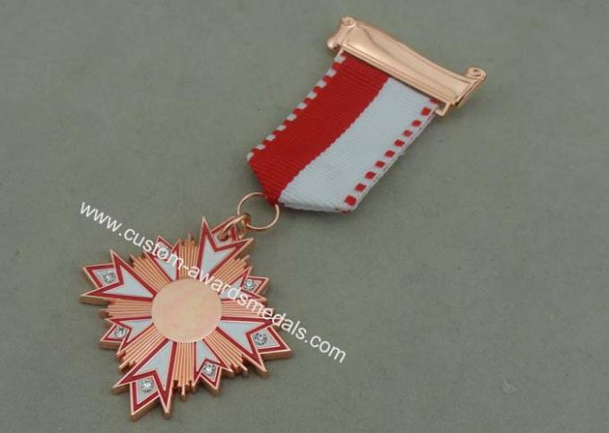 Carnival Awards Medals In 3D Design , Zinc Alloy Competition Medals With Silver Plating