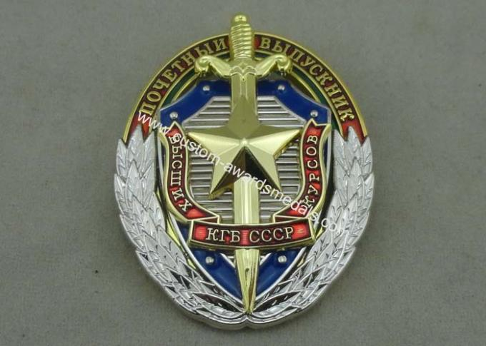 Zinc Alloy Synthetic Enamel Police Badges for Anniversary Celebration