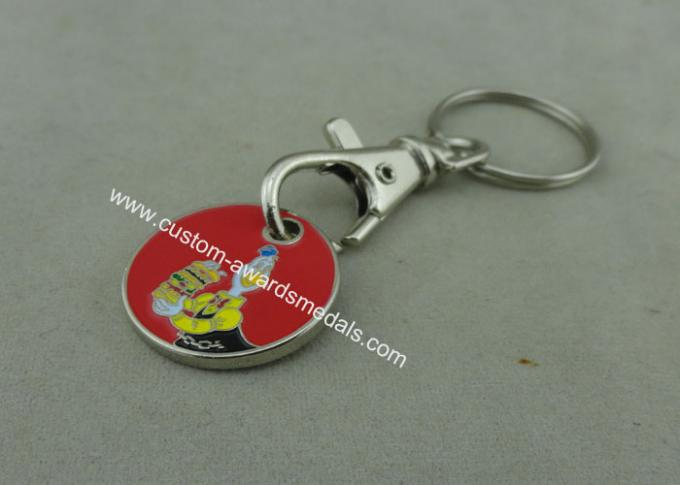 Customized Trolley Coin Keyring , Shopping Trolley Coin Holder / Caddy Coin with Key ring