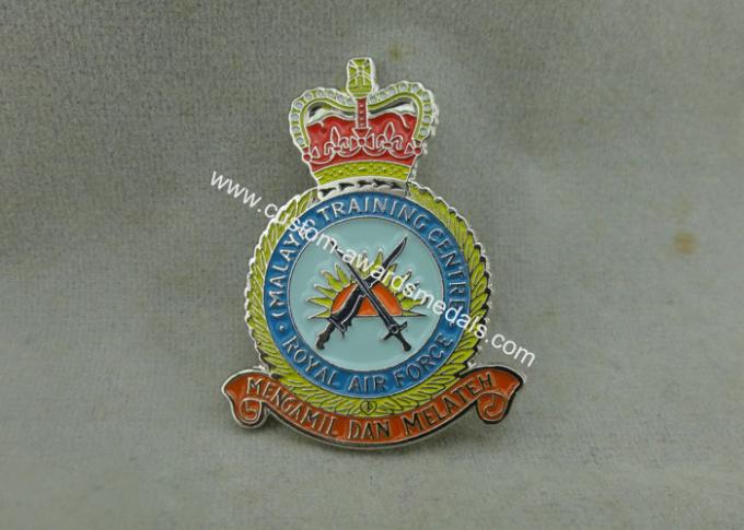 Zinc Alloy Transparent Soft Enamel Pin , Military Honor Royal Air Force Pin Badges