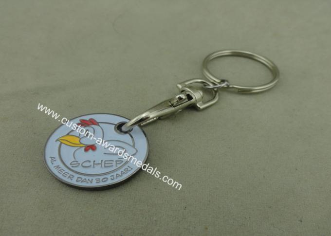 Die Struck Customized Trolley Coin , Imitation Hard Enamel Token For Shopping Car