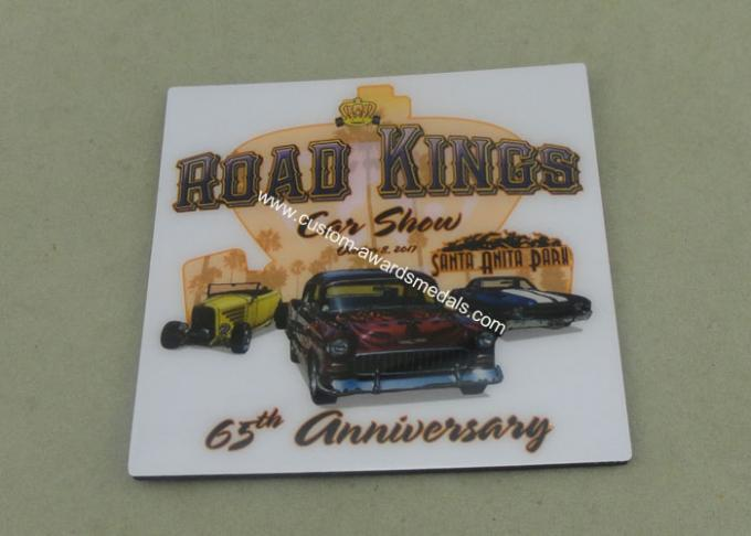 Personalized Metal Card Souvenir Badges Offset Printing Emblems
