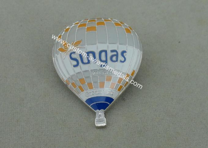 Promotional Die Struck Sungas Balloon Soft Enamel Pin With Epoxy