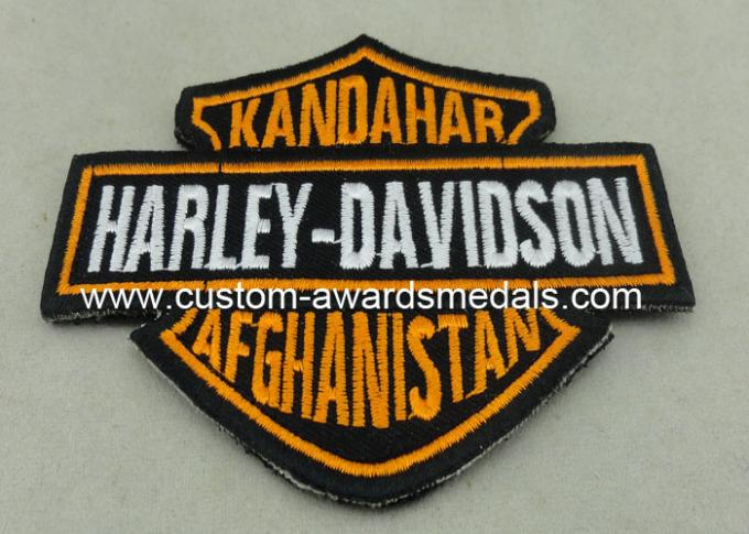 Customized Applique Sequin Embroidery Patches / Harley Davidson Badges