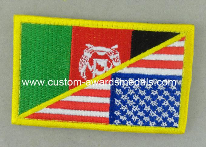 Customized Promotional US Uniform Badge Patch 3.25 Inch Eco - Friendly