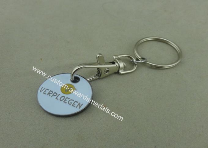 Personalised 2D Brass Stamped Trolley Coin 2.33 Mm Thickness For Store / Shop