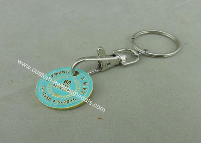 Iron Zinc Alloy Supper Market Trolley Coin , Customized Soft Enamel Coin