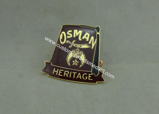 Synthetic Military Emblem Brass Soft Enamel Pin Die Stamped Custom Shape