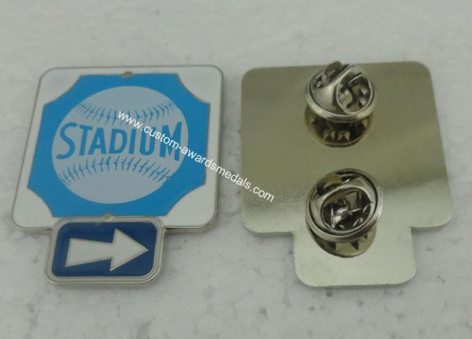 Business Promotional Soft Enamel Epoxy Award Pin , Photo Etched Club Pin