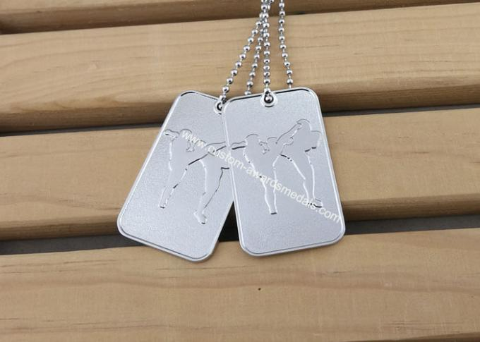 Printing Business Promotional Soft Enamel Army Dog Tags Stainless Steel Material