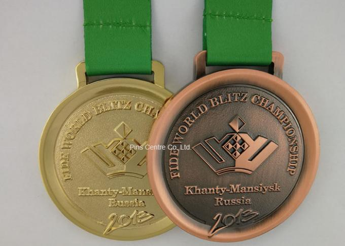 Round 5k Race Medals , Iron Volleyball 3D Zinc Alloy Wrestling Medals
