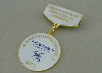 China Brass Stamped Awards Medals Gold With Imitation Hard Enamel For Memorial Meeting supplier