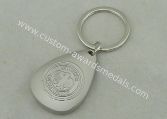 China OEM 3D Zinc Alloy Promotional Keychain Misty Nickel Soft Enamel supplier