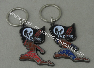 China Die Casting Promotional Key Ring ,  Soft Enamel And Zinc Alloy Keychains supplier