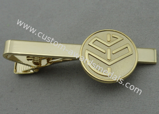 China Aluminum, Stainless Steel, Copper Stamping Personalized Tie Bar, Collar Tie Bars With Gold Plating supplier