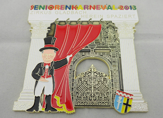China Photo Etching, Injection, Die Cast Senioren Karneval Carnival Medal for Awards Gift supplier