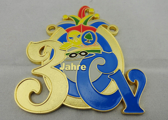 China 2D or 3D CY Carnival Medal by Zinc alloy with Soft Enamel, Gold Plating, Flat Back Side supplier