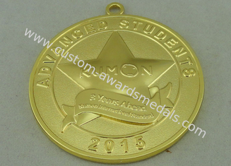 China 3D Die Casting Medals Zinc Alloy Material With Gold Plating 50 mm supplier
