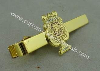 China Promotional Gold Mens Tie Bar Cufflink Brass Tack By Die Stamped supplier