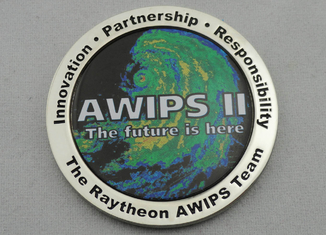China OEM & ODM AWIPS Coin / Zinc Alloy Awards Personalized Coins with Offset Printing, Imitation Cloisonne Enamel supplier