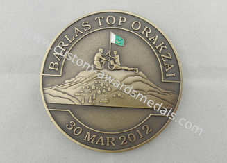 China 3D Double Sided Barlas Top Orakzai Coin, Personalized Coins with Enamel / Silkscreen / Offset Printing supplier