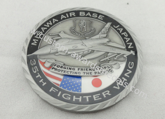 China Brass / Zinc Alloy / Pewter Personalized Coins / Air Force Coin with Antique Nickel Plating supplier