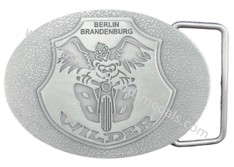 China Personalized Pewter / Zinc Alloy Metal Berlin Brandenburg Belt Buckle without Enamel (OEM & ODM) supplier