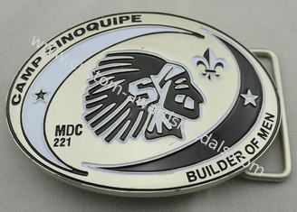 China Camp Sinoquipe Belt Buckle with soft Enamel, Zinc Alloy Custom Made Men Buckles with Misty Nickel Plating supplier