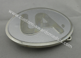 China Mat - Gold, Mat - Nickel / Gold Plated UA Belt Buckle / Custom Made Buckles without Enamel supplier
