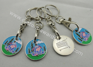 China Customized Iron, Copper, Zinc Alloy Animal Trolley Coin, Shopping Trolley Token Keyring supplier