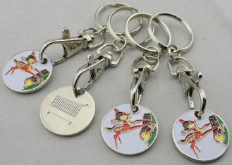 China Die Stamping Iron Animal Trolley Coin, Shopping Trolley Token Keyring with Hook supplier