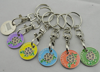 Die stamping, Die Cast, Die Struck Metal Tortoise Shopping Trolley Coin Key Chain