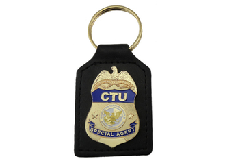 China CTU Special Agent Custom Aluminum, Soft PVC, Leather Key Chain / Customized Keychain supplier