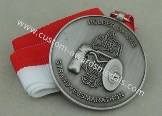 China Die Casting 3D Medals Antique Silver Marathon Medals Antique Silver Plating supplier
