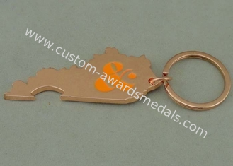 China Copper Plating Logo Key Chain Advertising Keychains Zinc Alloy Bottle Opener supplier