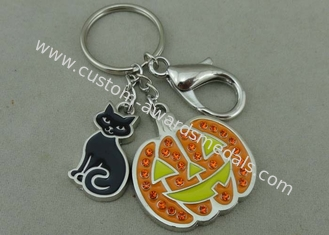 China 2.0 mm Thickness Promotional Keychain Swarovski Key Chain Soft Enamel supplier