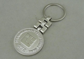 China Silver Plating Promotional Key Ring 3D Die Casting Stainless Steel supplier