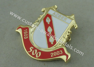 China Brass Hard Enamel Pin Badges , Die Stamped Military 3D Brooch Gold Badge supplier