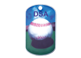 China Promotional Gift DAS Offset Printing Personalised Dog ID Tags, Aluminum with Metal Ball Chain supplier