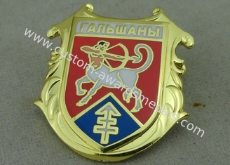 China Brass Hard Enamel Army Pin Die Stamped 3D Enamel Brooch Badge Stamped supplier