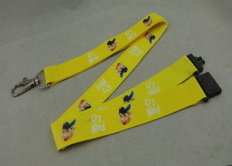 China Heat Transfer Polyester Lanyards With D Hook Double Sides Printing supplier