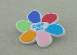 China Promotional Lapel Pin Soft PVC Coaster 2D Fridge Magnet 1.0 Inch supplier