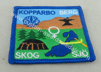 China Garments Custom Embroidery Patches Cap Labels Velcro Merrowed Sew On supplier