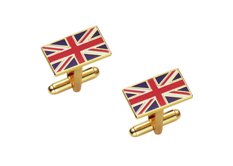 China High Quality Uk Cufflink, Copper Enamel Cufflinks By Brass Stamped, Gold Plating supplier