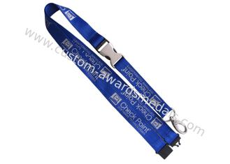 China Check Point Silk Screen Printing Personalized Polyester Promotional Lanyards For ID Card supplier