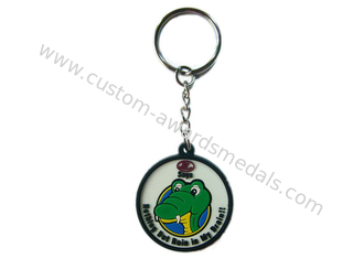 China 2D Custom Promotional Soft PVC Keychain / Keyring for Mobile Phone supplier